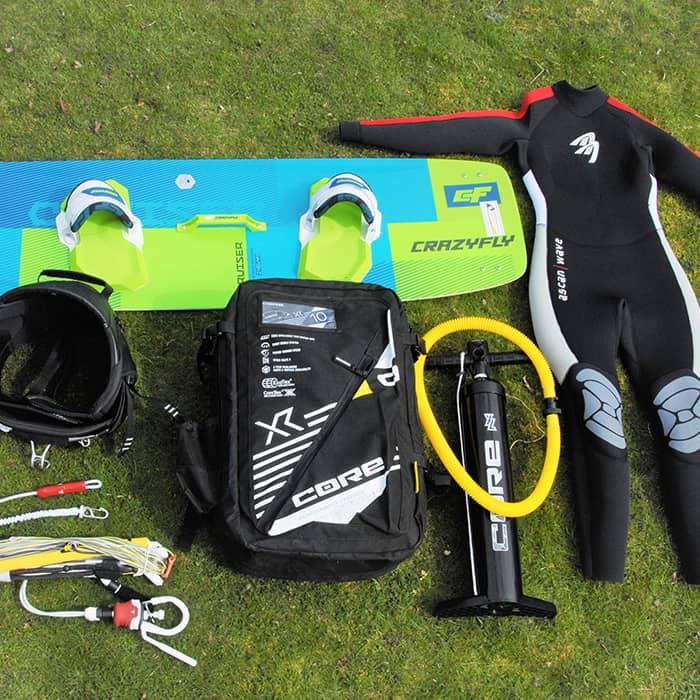 KiteBoarding Fehmarn hat eine große Auswahl an Miet-Equipment in allen Größen